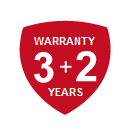 our warranty is 3+2 years