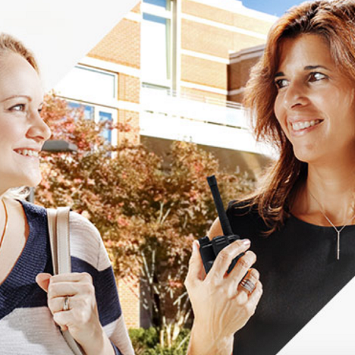 Discuss educational stuffs through a 2 way radio