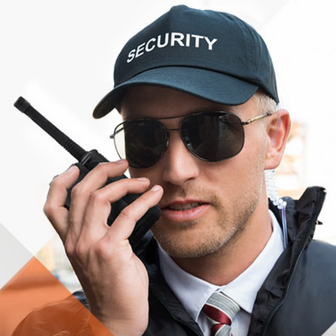 security guards make use of 2 way radios